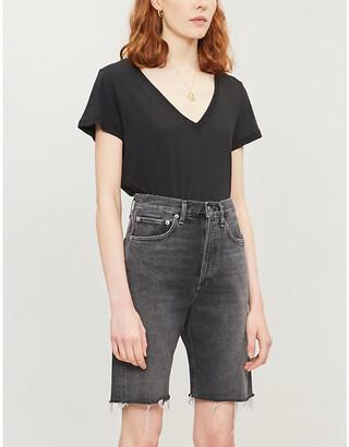 Paige Zaya V-neck cotton and modal-blend T-shirt