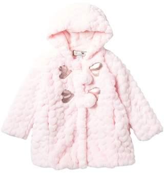 WIDGEON Faux Fur Toggle Pompom Coat (Toddler & Little Girls)