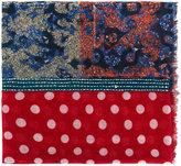 Daniele Alessandrini printed tassel detail scarf