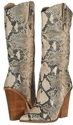 Steve Madden Renzo Western Boot (Tan Snake) Women's Shoes