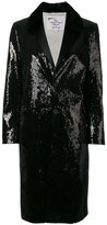 DSQUARED2 sequin embellished coat - women - Silk/Cotton/Mink Fur/Sequin - 42