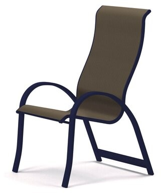 Aruba II Sling Supreme Stacking Patio Dining Chair Telescope Casual Seat Color: Latte