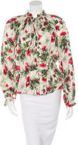 Elizabeth and James Silk Floral Blouse