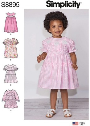 Simplicity Children's Dress Sewing Pattern, 8895