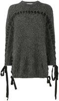 Fendi ribbon detail jumper - women - Cotton/Polyamide/Viscose/Angora - 40