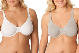 Fruit of the Loom Women's Unlined Underwire Bra(Pack of 2)