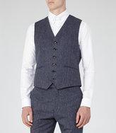 Reiss Reiss Tanaka W - Modern Tailored Waistcoat In Blue