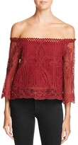 Lucy Paris Off-The-Shoulder Lace Top - 100% Bloomingdale's Exclusive