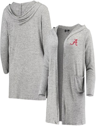 Women's Heathered Gray Alabama Crimson Tide Cuddle Soft Duster Cardigan