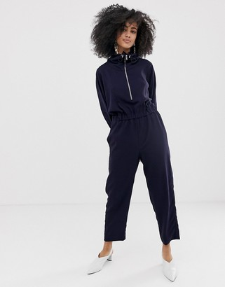 ASOS funnel neck shell suit jumpsuit