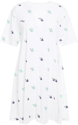 McQ Printed Cotton-jersey Mini Dress