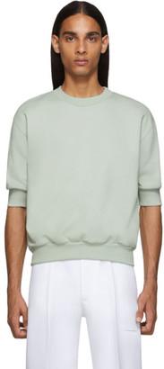 Random Identities Green Side Zipped Sweatshirt