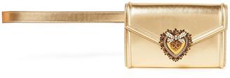 Dolce & Gabbana Devotion Embellished Metallic Leather Belt Bag