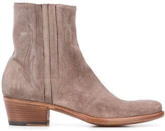Alberto Fasciani Stitch Detail Boots