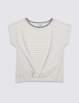 Marks and Spencer Cotton Rich Striped Top (3-14 Years)