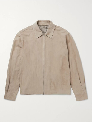 The Row Harvey Suede Bomber Jacket