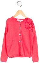 Tartine et Chocolat Girls' Embellished Long Sleeve Cardigan w/ Tags