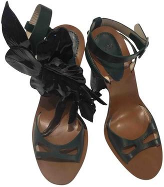 N°21 N21 Green Leather Sandals