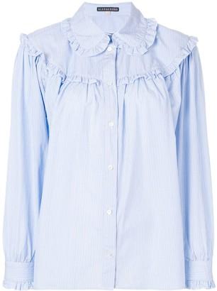 ALEXACHUNG Alexa Chung ruffled stripe shirt