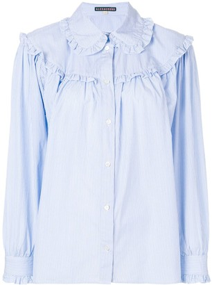 ALEXACHUNG Ruffled Stripe Shirt