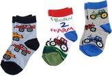 Jefferies Socks Born 2 Farm Triple Treat Boys Shoes