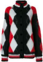Laneus rhombus pattern cardigan