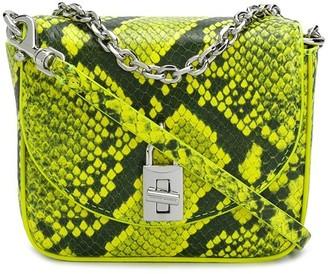 Rebecca Minkoff Love Too snakeskin-print micro bag