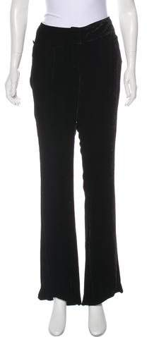 John Galliano Mid-Rise Velvet Pants