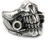 LINSION Tooth Skull Hell Demon Mouth Ring 316L Stainless Steel MAD MAX Punk Rock Jewerly 9Y021