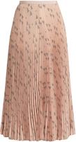Valentino Triangle-print silk crepe de Chine pleated skirt