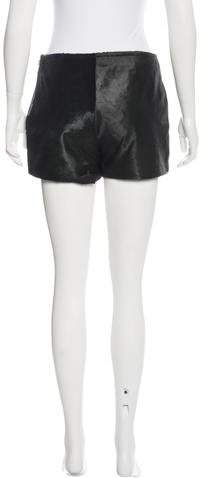 Theyskens' Theory Calf Hair Mini Shorts