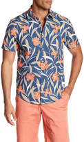 Original Penguin Large Floral Print Short Sleeve Heritage Slim Fit Shirt