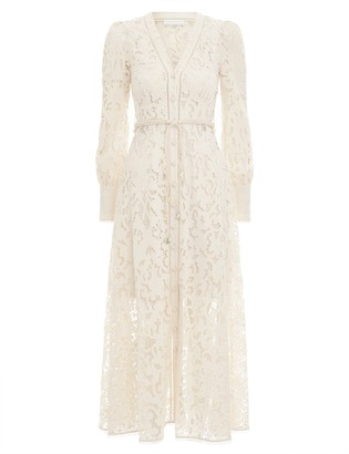Zimmermann Freja Broderie Button Up Dress