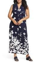 Eliza J Sleeveless Knot Detail Maxi Dress
