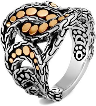 John Hardy Dot 18K Gold & Silver Ring