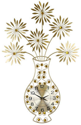 Orient Three Star Vase and Flower Wall Clock