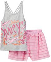 Juicy Couture Printed Tank & Ruffle Short Set (Little Girls)