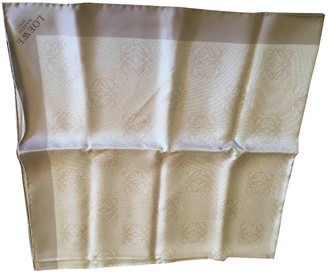 Loewe Silver Silk Scarves