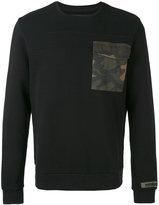 Hydrogen contrast patch sweater