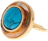 Cole Haan Mother Of Pearl Framed Turquoise Ring - Size 7
