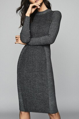 Reiss Juno Textured Knit Bodycon Dress