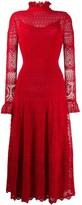 Alexander McQueen crocheted lace high neck dress