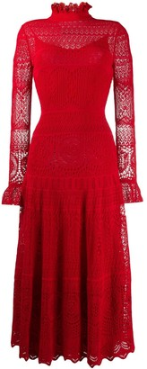 Alexander McQueen Crocheted Lace High Neck Dress