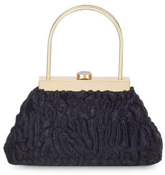 Cult Gaia Estelle Mini Faux Fur Top Handle Bag