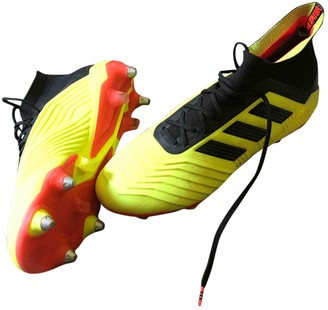 adidas Yellow Plastic Lace ups
