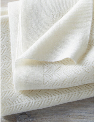 The Little White Company Cashmere Christening blanket 100cm x 75cm