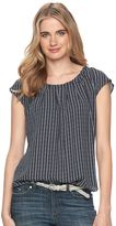 Lauren Conrad Women's Pleated Top