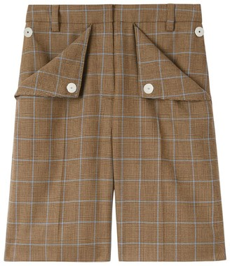 Burberry Wool Check Shorts