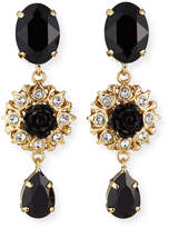 Dolce & Gabbana Crystal 3-Drop Earrings