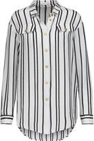 Pierre Balmain Striped silk crepe de chine shirt